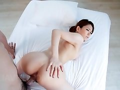 China Mimura Asian fondles pecker of her cans before is doggy nailed