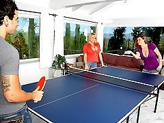 2 hot ass fucking big tits babes share a mega dong in these hot ping pong playing fucking 3 some cumfaced vids