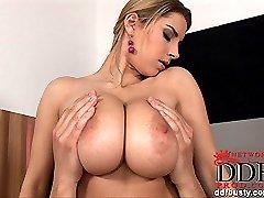 Katarina plays with her boobs