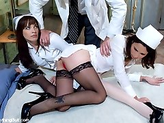 Dana DeArmond and Amber Rayne are two sexy nurses who get caught fooling around in the hospital...