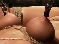 Welcome back Tessa Taylor to Hogtied. This super cute 20yr old has natural, full C breasts. This...