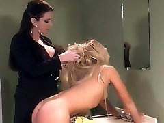 Cute blonde Joelene submits to Taylor St Claire and gets a good dose of OTK spanking