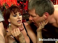 Mz Berlin is simply Divine in our latest cuckolding update! Berlin and her spouse Jimmy are a loving duo who always fantasize about her smashing another dude in front of him. Jimmy doesn't like to admit it but he secretly loves it and by the response of his lollipop he can't lie! While out to dinner one evening Berlin decides the desire finishes now and she wants to make it reality! Berlin insists on Jimmy pleading the much younger beautiful waiter to come home and pound his wifey while he has to sit and observe in v-card. Grizzly does just that and the night turns into a mischievous, embarrassing, cuckolding smash fest where Jimmy not only gets Berlin's bull rock-hard with his mouth while taking a strap-on pink cigar deep in his caboose he also takes an entire stream of cum to his face just to see his wife smile.