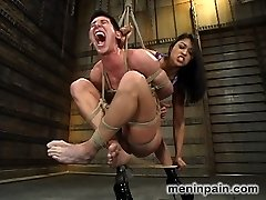 Mistress Mika Tan and submissive daniel have a agonizing and enjoyment filled history together. Today Mistress Mika rekindles some caning memories for Her gimp by rapping his feet and balls until he groans. A faux-cock gag and flagellating sates Mika and daniel offers his bum up for a trip down memory anal pounding lane. And of course no shoot would be complete sans Dominatrix Mika?s tongue flagellating verbal humiliation.