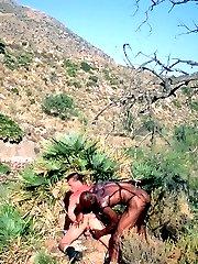 Gay hotties anal screwing outdoors