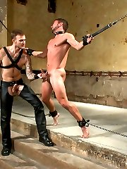Dom of the house Christian Wilde orders his new boy, Colt Rivers to remove his boots and worship...