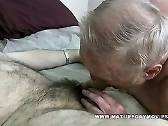 Chubby Grandad Gets His Bum Stuffed