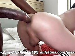 Big ebony dick in white ass