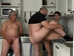 two old buddies share young boy