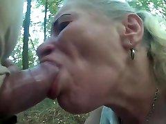 Pumped dinky use poor hooker jaws and throat in forest