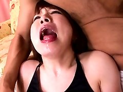 Ryou Tsujimoto Asian on heels gets cum on AllJapanesePass.com