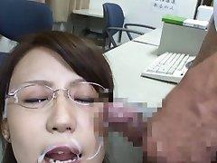 Yuuka Tachibana Asian gets cum on specs and JpTeacher.com