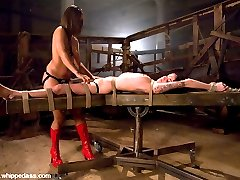 Kayden was excited about being dominated by Isis Love in sexy latex. Kayden specially requested to have her first anal experience on camera.  She takes a dildo deep in her ass while tied to a swing and loved it.  Isis dishes out a good mixture of pleasure and pain in this hot update!