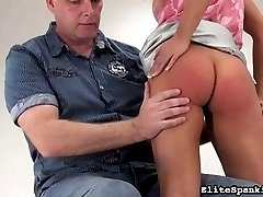 Barra has been a very naughty girl. Her spanking Master didn't even wait for us to record the bare handed spanking he gave her.