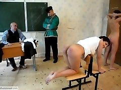 Head down and bottom out for an extra severe caning