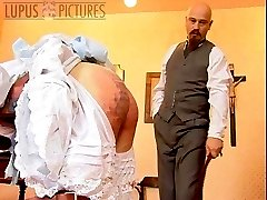 Brutal and severe classroom caning for girl with blistered and battered ass