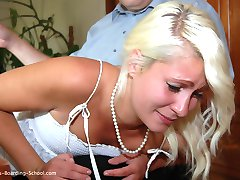 New Resident Micaela - Firsttime Spanking in Her Life