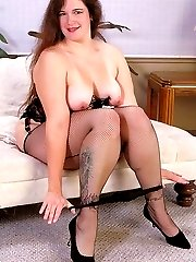Sexy BBW in lingerie