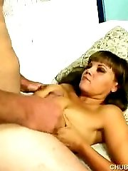 Busty plumper gives a tit fuck