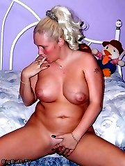 Chubby blonde has really puffy nipples