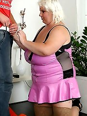The hooker wears pink and looks slutty as she gives up access to her steaming hot hole