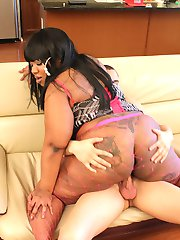 Caramel Dior is a phat black freak with one hell of a sweet pussy!