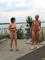 Julia and Julia have fun in public