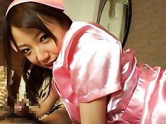 Saito Ookura Asian in nurse uniform sucks JapaneseSlurp.com
