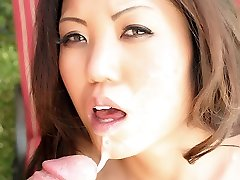 Oriental beauty Kaiya Lynn goes down to suck a cock and gets her cootchie licked and boinked