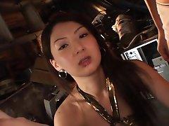 Hikari Sawami Asian in fishnets sucks and JapaneseSlurp.com