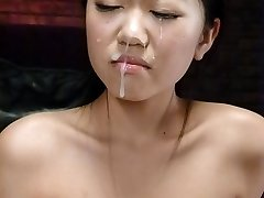 Akina Nakahara Chinese gets much cum on face and vibro in twat