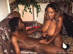 Busty black beauty gets her pierced pussy pummeled
