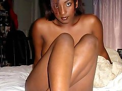 Naughty ebony hotties like posing naked
