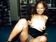 Destiny is a beautiful tall black woman who likes to get freaky anytime and anywhere.  Cum watch her getting naked on her pool table