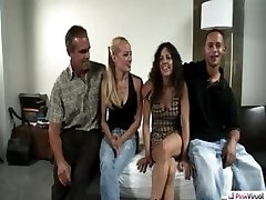 Both couples are excited to Wife Switch. That is until D's wife likes Lars' cock a little too much. She finally has to get down on her knees and make an oral proposition for him to stay. After Mandy and Ashden cum together they race to make the others husband Cum first. But in the end, YOU'LL BE THE REAL WINNER!