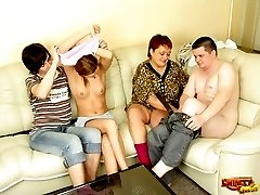Nasty swingers doing shocking things in bed