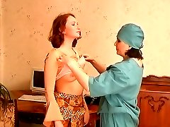 Mature nurse prescribing a girl tit licking and pussy eating procedures