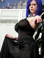 Larkin Love Shows Her Gothic Side and Her Big Tits