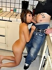 Drunk gf gives public blow job at house party
