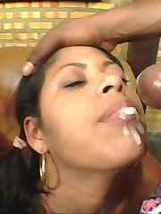 Big black booties getting raw and nasty for some cum mustaches