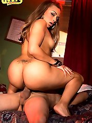 Thick assed hottie ride thick hard cock