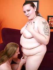 Tattoed lady Menoly meets up with her fuckbuddy and got fucked hard after sucking his cock in this BBW porn