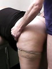 Cute young fattie candidate  in stockings boned in office for a promise of a special bonus