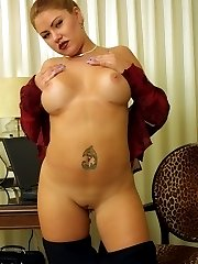 Tattooed Sexy Fat Babe Licking Fat Breasts