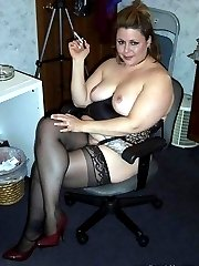 Sexy BBW on bed