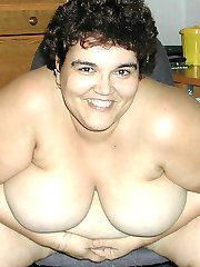 Brunette BBW amateur wife gets naked