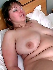 The pretty fat chick in the white dress goes home with him and they have amazing sex in bed