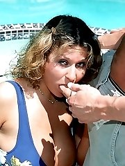 Chubby brunette gets her fat pussy eaten