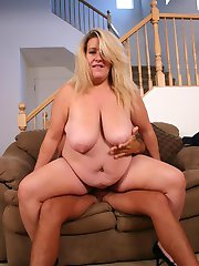 Lazy blonde wife Jenna finally does something worthwhile and fucks her husband on cam