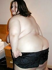 Brunette Supersized SSBBW honey in panties and nude